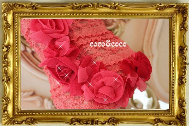 画像2: 【新作】ストレッチピンクレース Roseドレス セレーナちゃんモデル