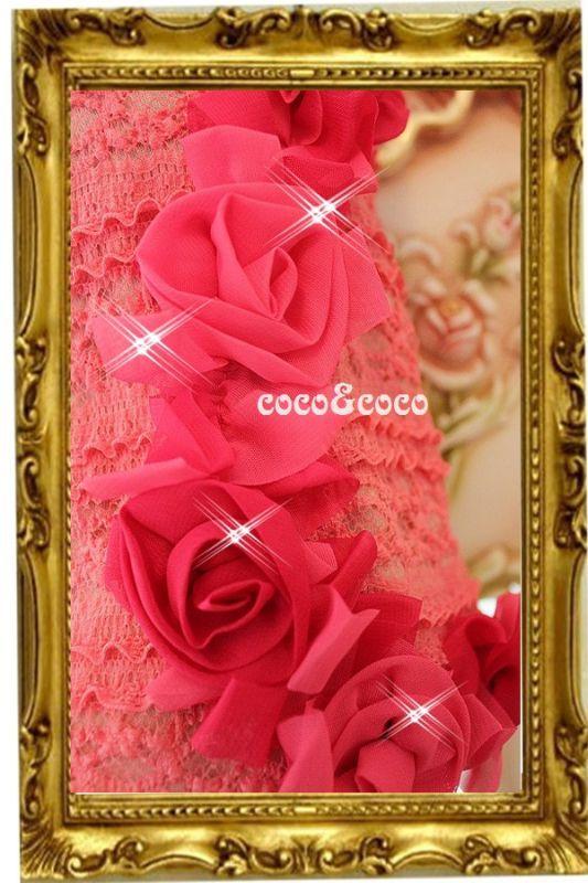 画像5: 【新作】ストレッチピンクレース Roseドレス セレーナちゃんモデル