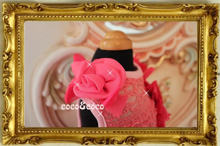 画像4: 【新作】ストレッチピンクレース Roseドレス セレーナちゃんモデル