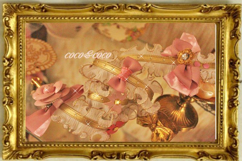 画像1: 【限定New】プリーツギャザレース GOLD&PINKりぼんカメリアリード りりィちゃんモデル