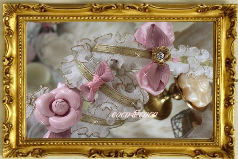 画像5: 【限定New】プリーツギャザレース GOLD&PINKりぼんカメリアリード りりィちゃんモデル