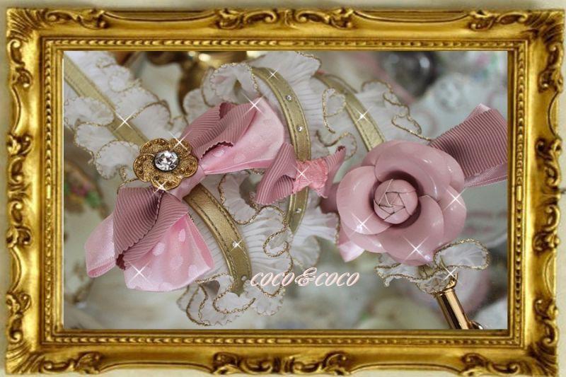 画像4: 【限定New】プリーツギャザレース GOLD&PINKりぼんカメリアリード りりィちゃんモデル