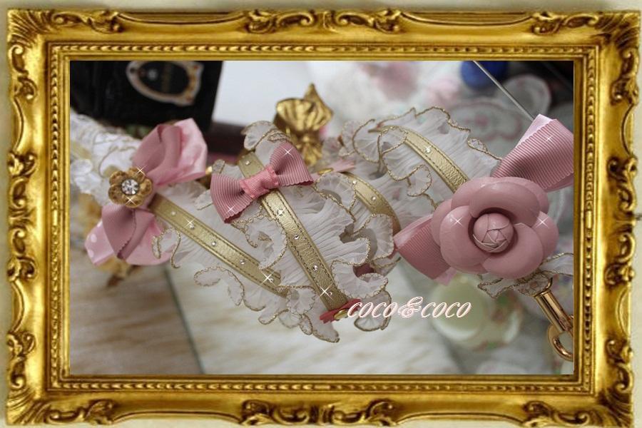 画像2: 【限定New】プリーツギャザレース GOLD&PINKりぼんカメリアリード りりィちゃんモデル