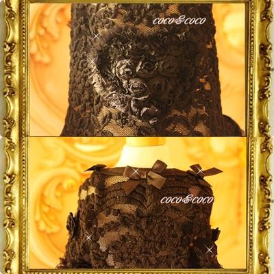 画像4: 【豪華新作】チュールレースROSE&ROSEドレスワンピース れんげちゃんモデル