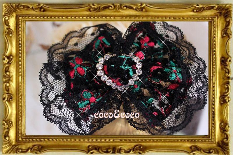 画像3: 【豪華新作】オーガンジーフラワー刺繍 ハートラインストーンバックルカラー