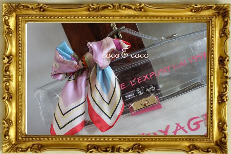 画像3: 【再入荷】カスタマイズリメイクデコ2way パロデイーケリー風バッグ シルクスカーフ付き