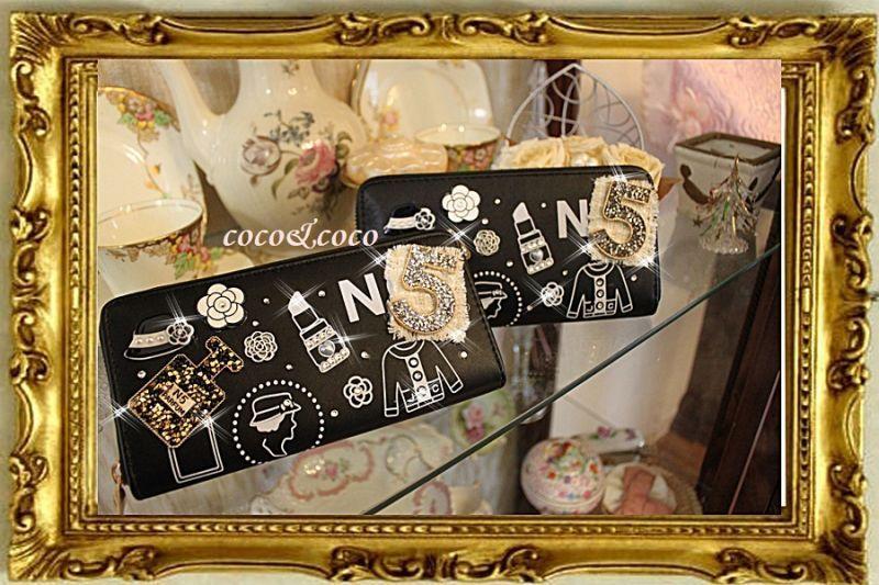 画像1: 【限定】coco風 キラキラデコ財布